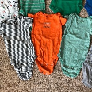 Carter's One Pieces - 9m baby boy onesies